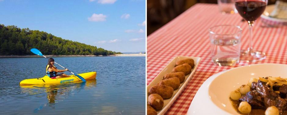 Kayak i dinar al restaurant Sport del Priorat