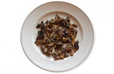 Restaurant Hostal Sport Falset - bolets confitats amb romaní fumat