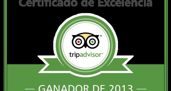 Certificat d'Excel·lència 2013 Hotel Hostal Sport