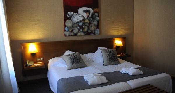 Habitacions hotel amb quadres relacionats amb el vi