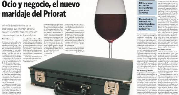 Article Diari de Tarragona de Wine&Business