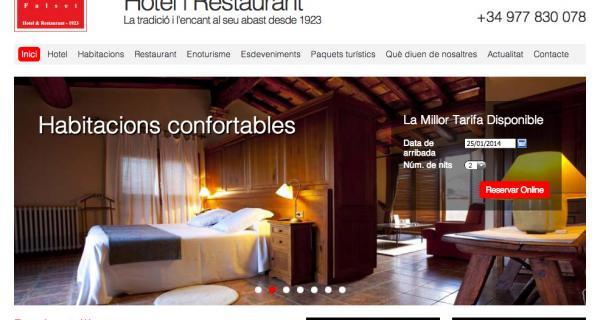 Redisseny web Hotel Hostal Sport