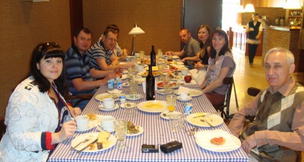 Periodistes russsos a l'Hotel Hostal Sport