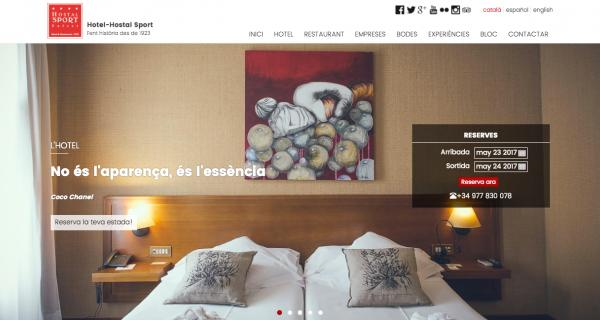 website hotel hostal sport