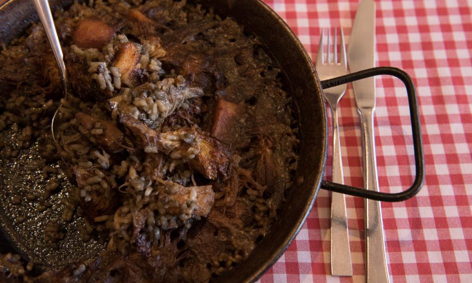Restaurant Hostal Sport Priorat - arròs amb sepia i carxofa