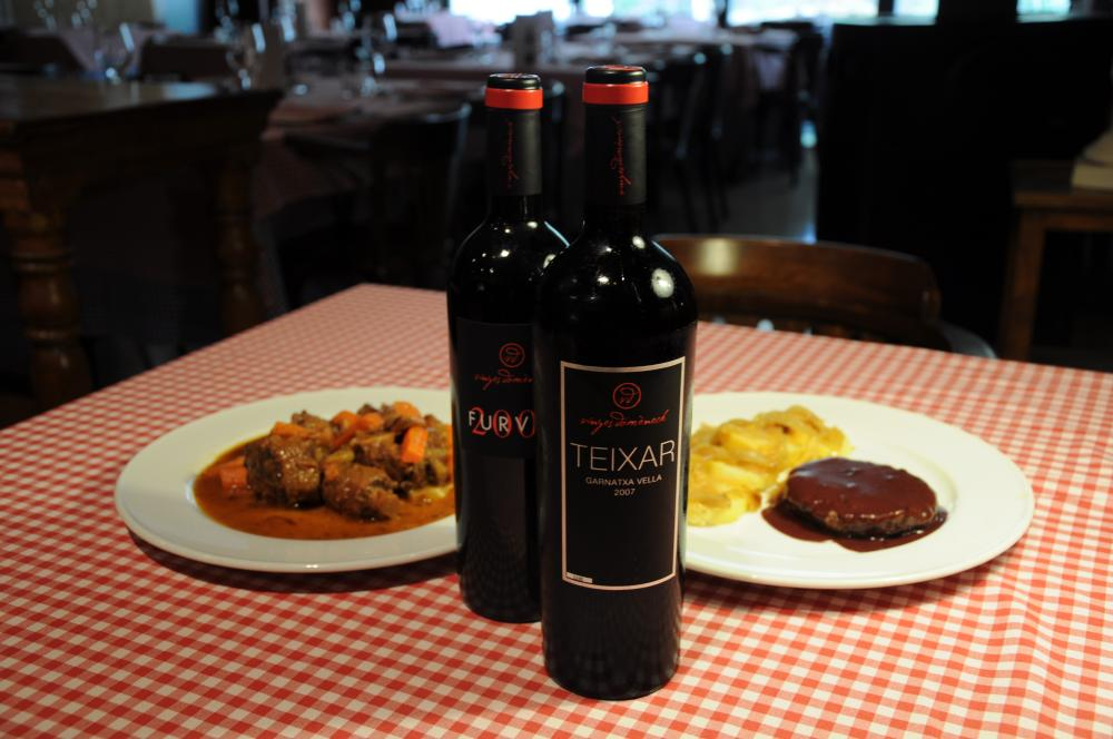 Maridaje con vinos de Vinyes Domènech en el restaurante Sport del Priorat